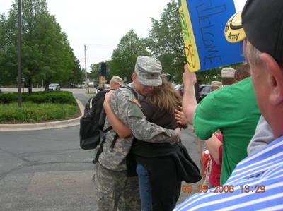 Hugging my favorite soldier