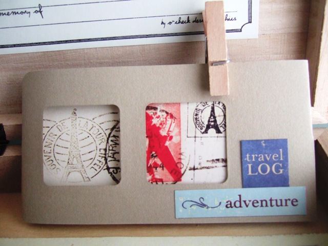 Mini travel scrapbook