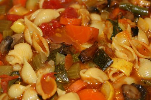 Minestrone up close
