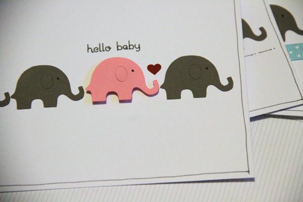 Hello baby card003