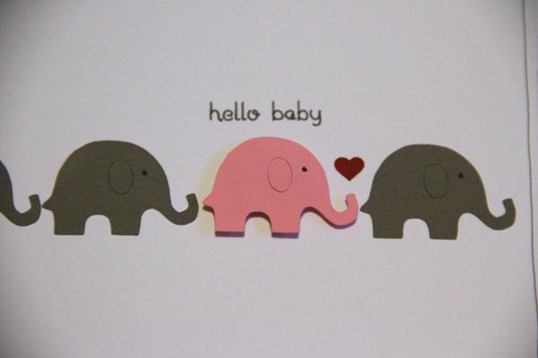 Hello baby card004