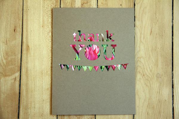Thank u w.pic cutout card023