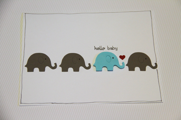 Hello baby card007