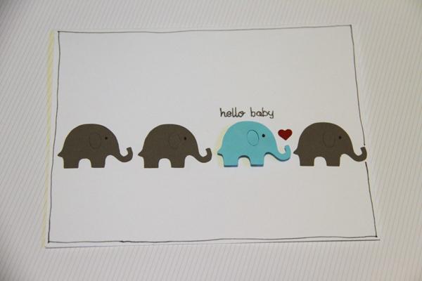 Hello baby card007