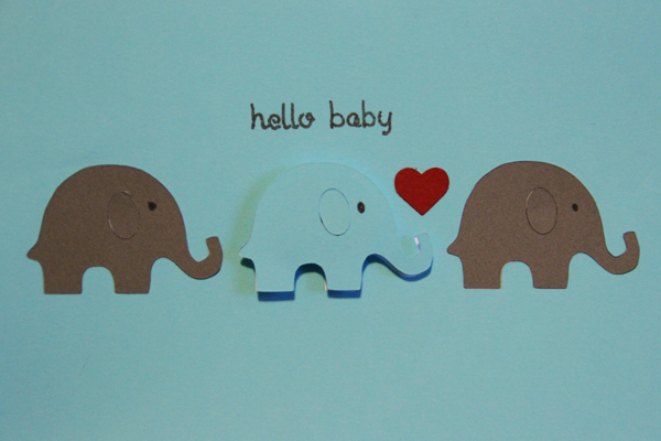 Hello baby card009