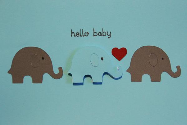 Hello baby card009