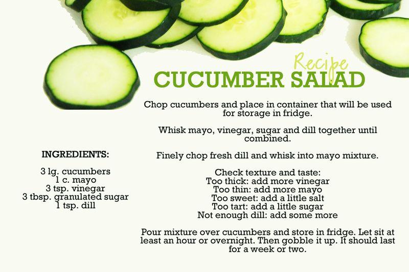 Cucumbersaladrecipe