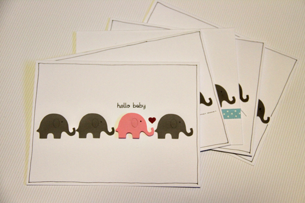 Hello baby card001