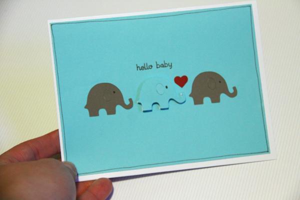 Hello baby card008