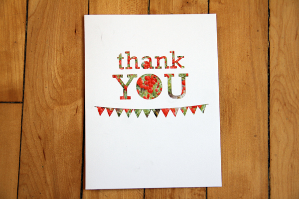 Thank u w.pic cutout card022