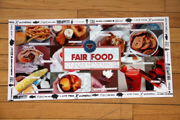 Fair food scrapbook layout 2014 i make things for Scrapbooking cuisine